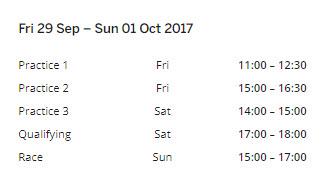 Malaysian-Schedule