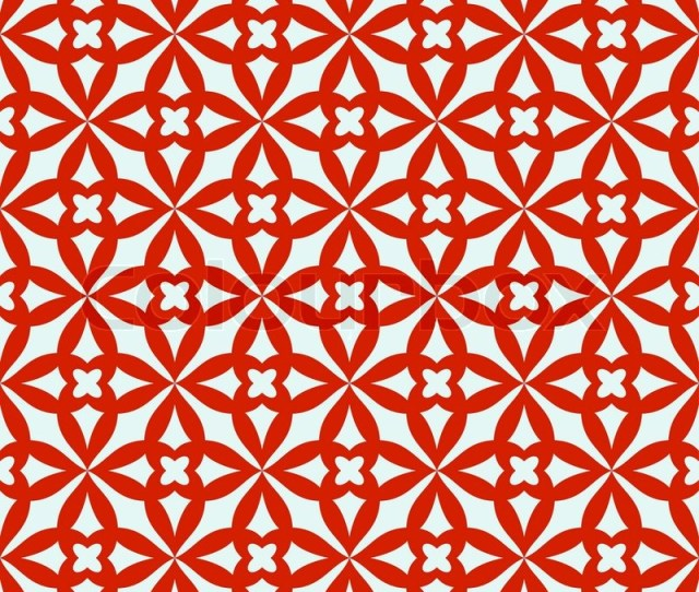 Abstract Geometric Background Trendy Seamless Patternred And White Fabric Retro Style Cute Wrapping Paper For Design Stock Vector Colourbox