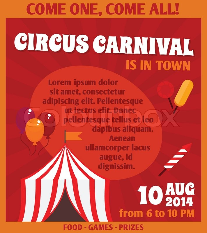 Travelling Circus Carnival Event Advertising Games Prizes