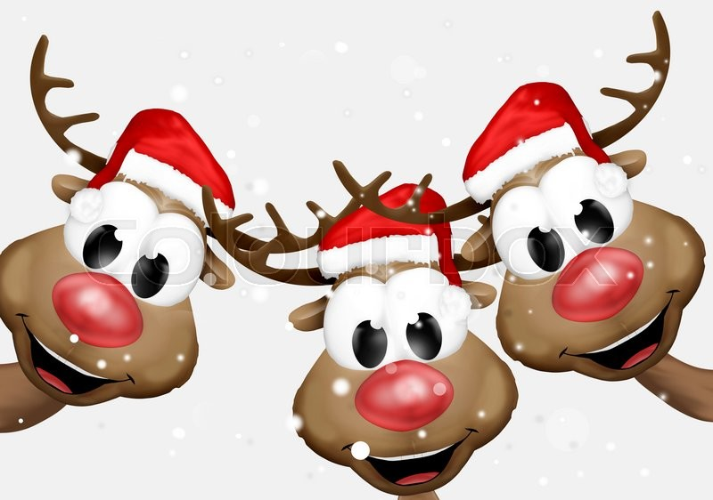 Christmas Reindeer Cartoon Stock Photo Colourbox