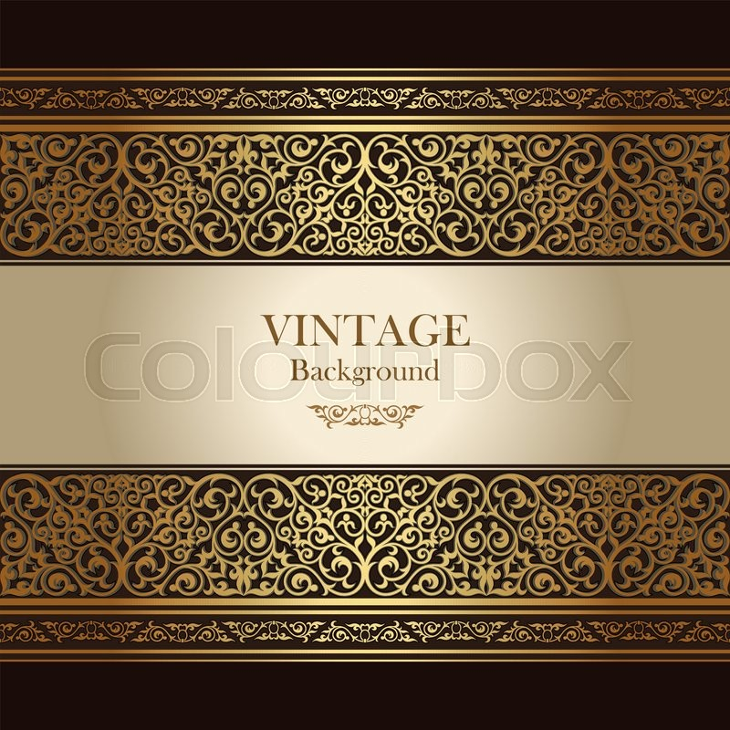 Vintage Background Islamic Style Stock Vector