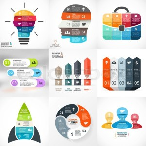 Vector creative arrows infographics  | Stock Vector