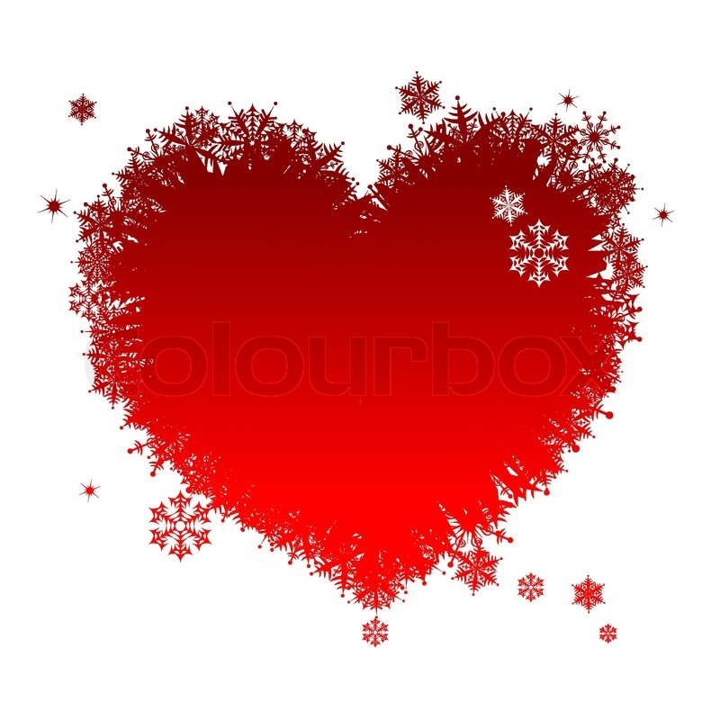 I Like Winter Heart Shape Of Stock Vector Colourbox