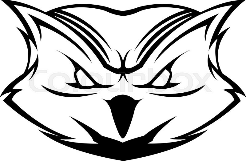 Owl Head Symbol Stock Vector Colourbox