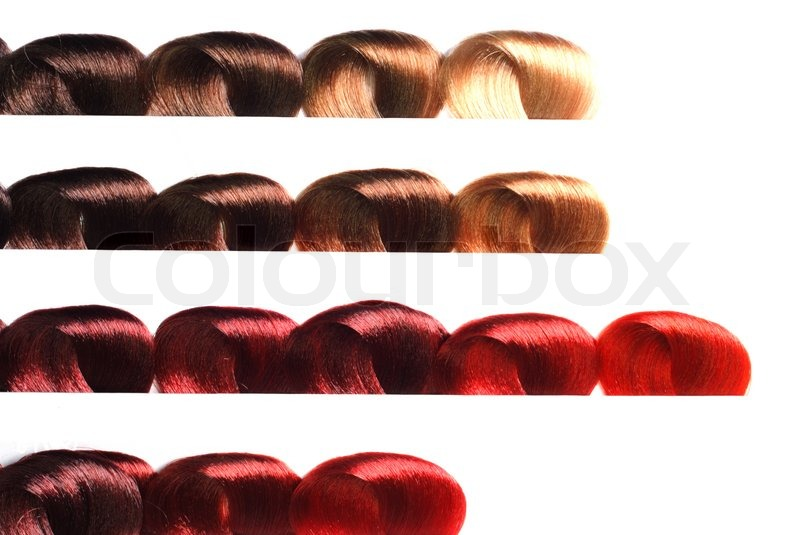 Hair Samples Of Different Colors Stock Photo Colourbox