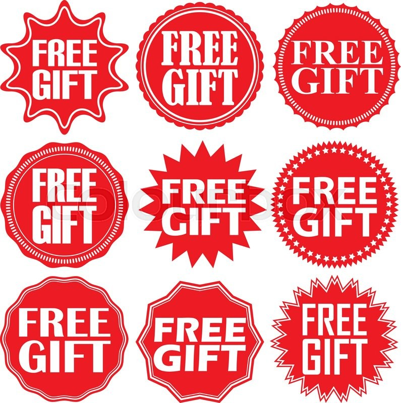 Free Gift Red Label Free Gift Red Sign Free Gift Red