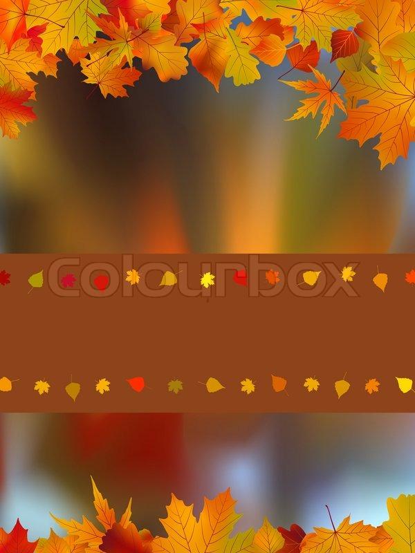 Thank You Card On A Bright Autumn Stock Vector