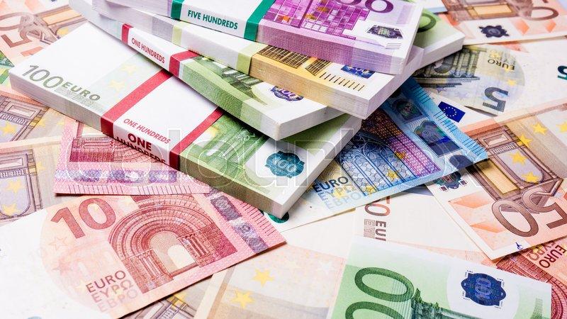 Lots Of Cash Money Euros Euro Money