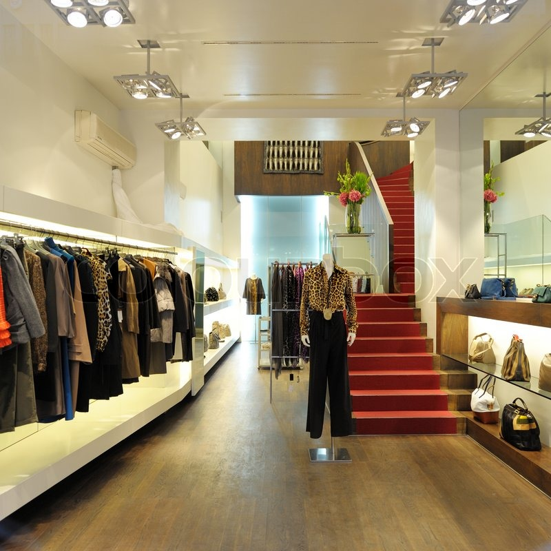 interior of a boutique store with