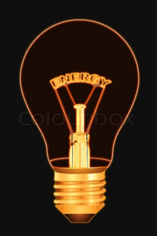 Illustration Of Energy Text Inside Stock Vector
