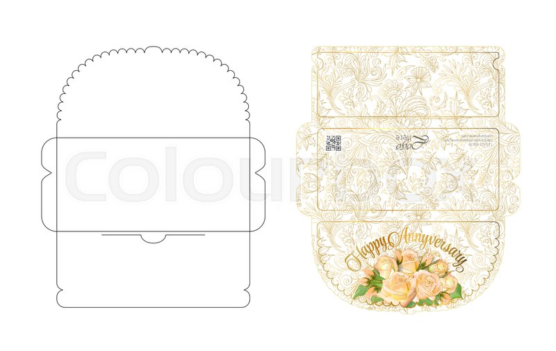 Envelope Template With Flap Design. ...