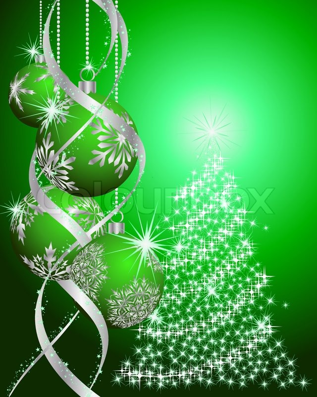 Beautiful Vector Christmas New Year Background For Design