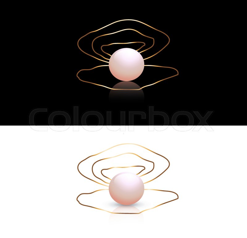 Abstract Jewelry Pearl Logo Design At Black And White