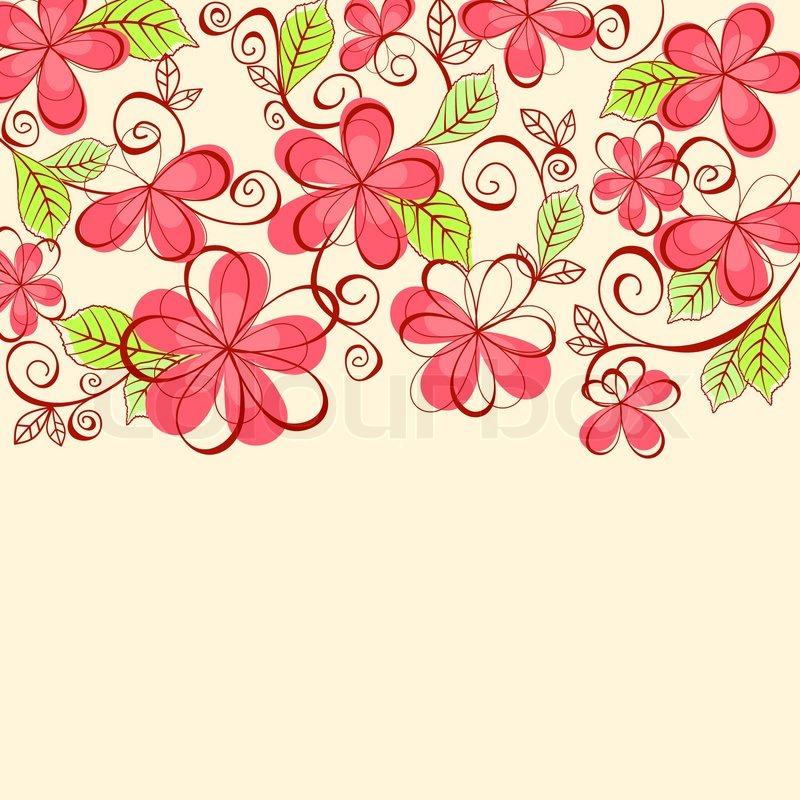 Floral Background For Textile Or Invitation Card Design