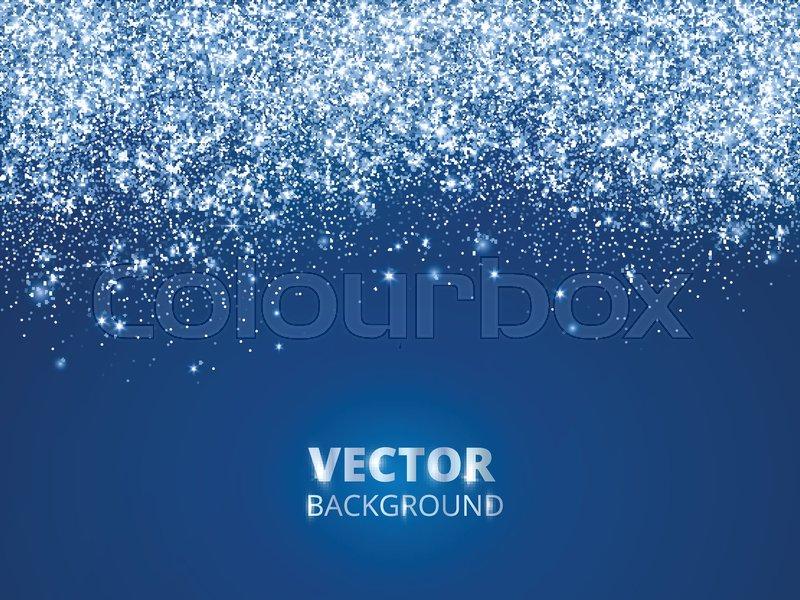 Falling Glitter Confetti Snow Vector Dust Explosion On