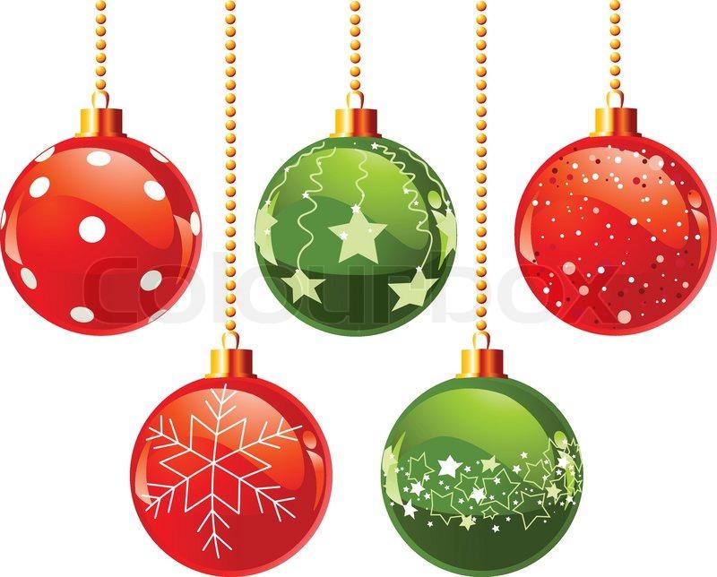 Darstellung Der Farbe Weihnachtskugel Vektorgrafik