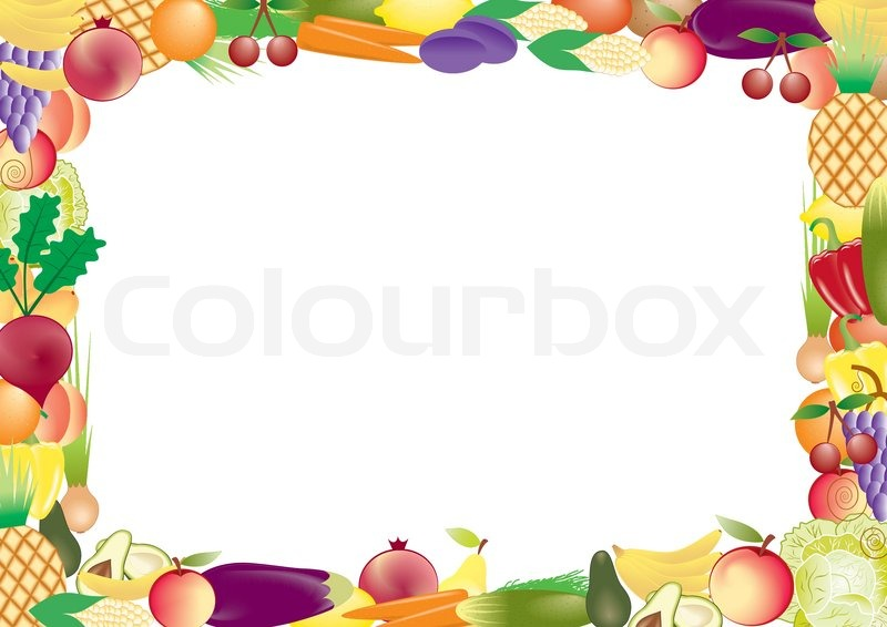 Fruits and vegetables vector frame | Stock Vector | Colourbox