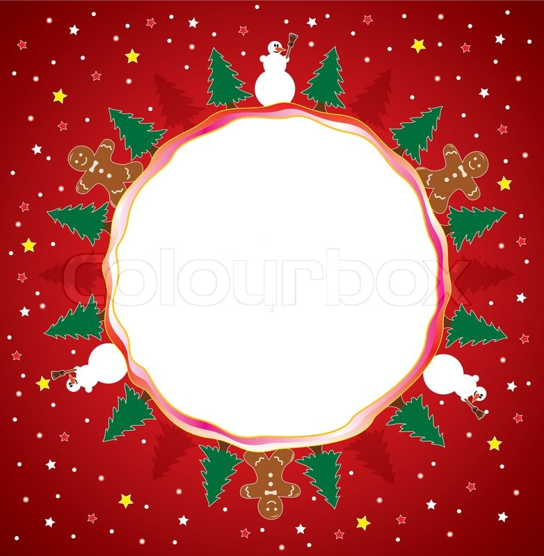 Winter Holiday Background With Snowmen Gingerbread