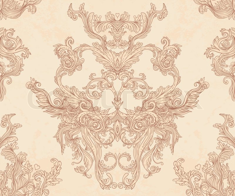 Quot Vintage Vector Background For Textile Design Wallpaper