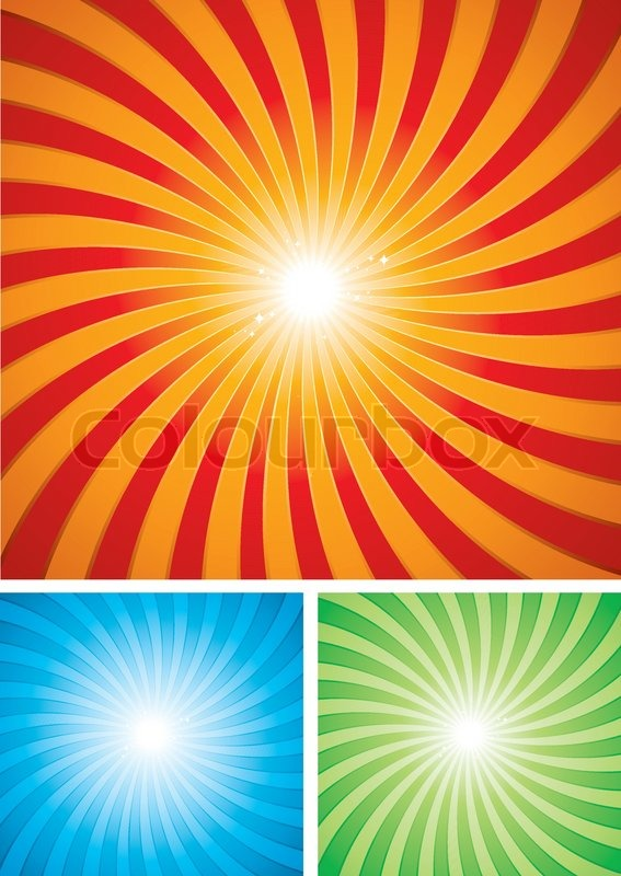 Sunset Retro Design Spiral Background Stock Vector