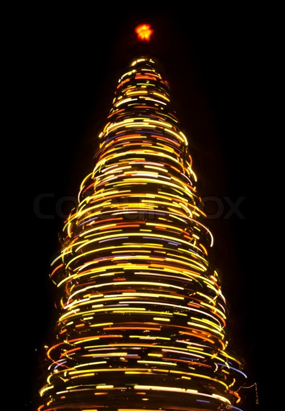 Blurred Rotating Christmas Tree Stock Photo Colourbox