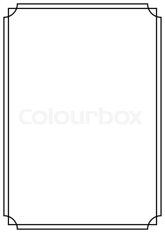 A4 Paper Design Vintage Style Page Stock Vector Colourbox