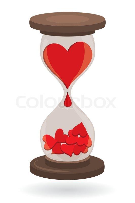 Hearts In Sand Clock Vector File Stock Vector Colourbox