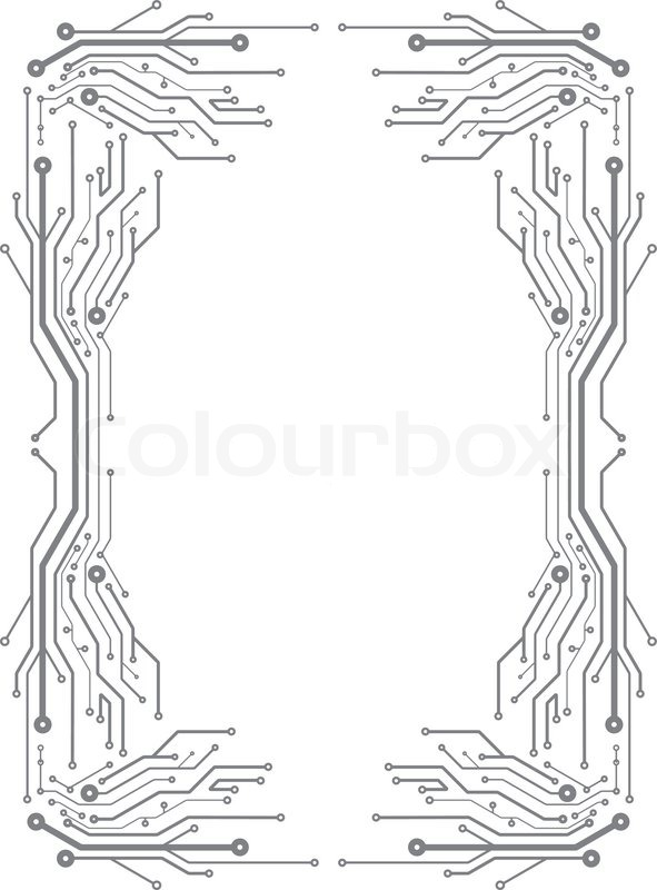 Frame In PCB Layout Style Stock Vector Colourbox