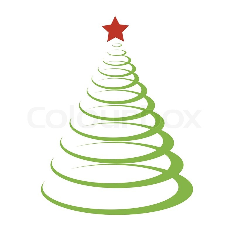 Christmas Modern Tree Stock Vector Colourbox