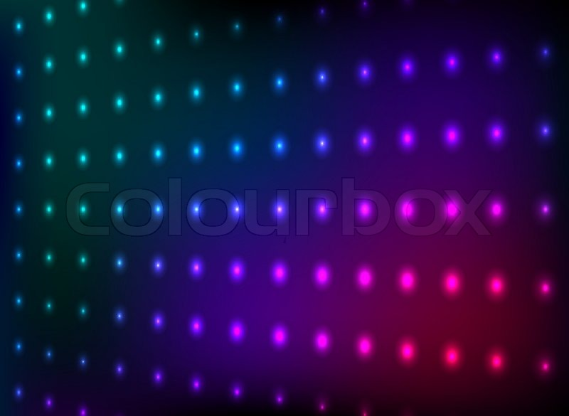 Abstract Colorful Club Lights Wall Vector Background
