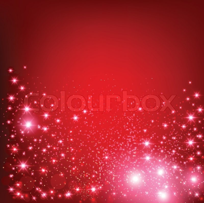 Elegant Christmas Red Background With Snowflakes And Place