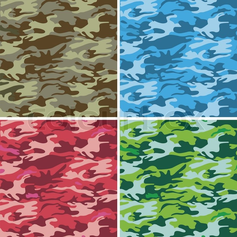 Military Camouflage Backgroundn Stock Vector Colourbox