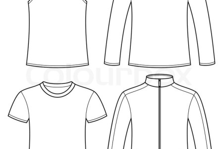long sleeve t shirt vector template » Full HD Pictures [4K Ultra ...
