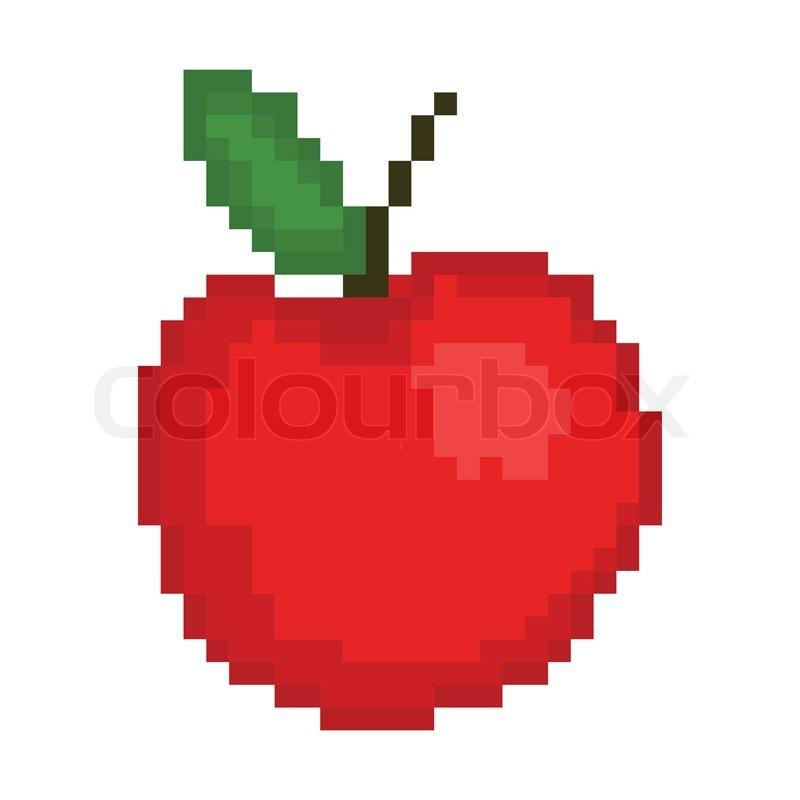 Illustration Pixel An Apple Stock Vector Colourbox