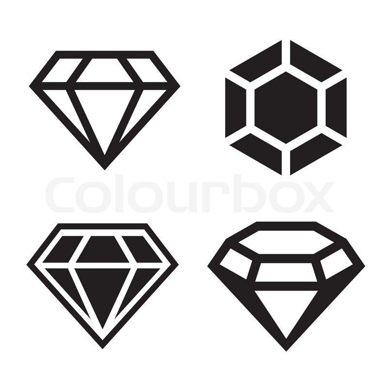 Diamond Vector Icons Set Stock Vector Colourbox
