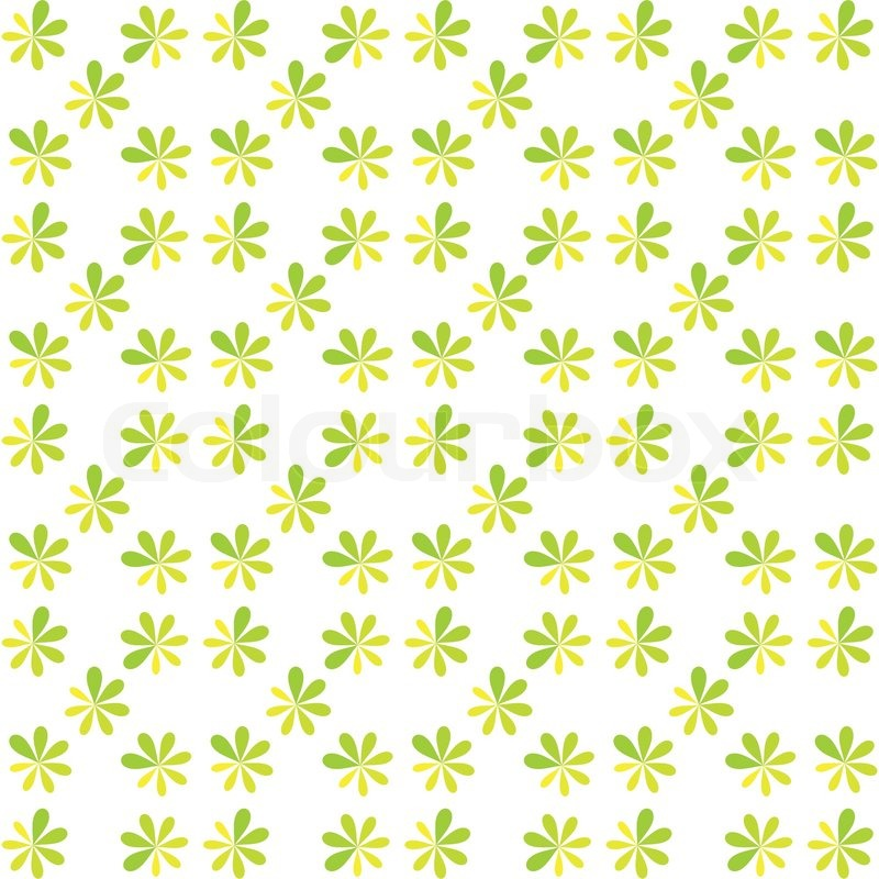Seamless Green Flower For Gift Box Christmas Pattern