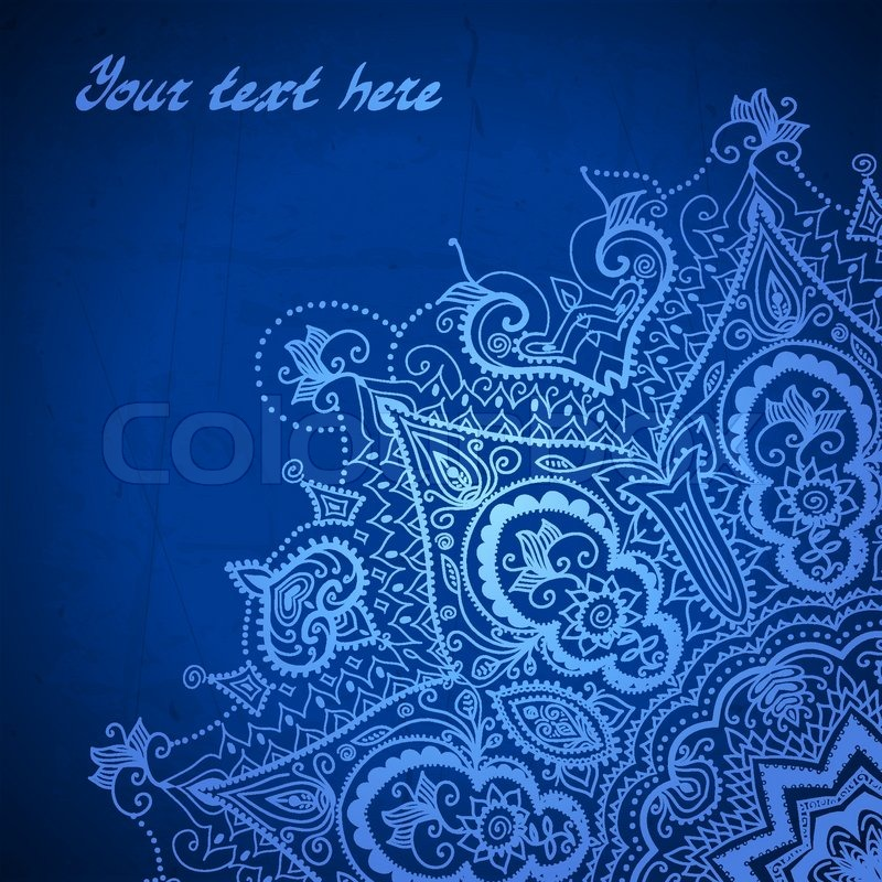 blue abstract vector background lace