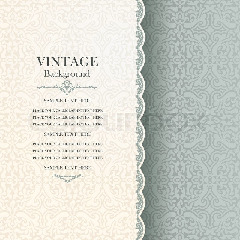 Vintage Background Antique Greeting Stock Vector Colourbox