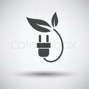 Save Energy symbol of electricity plug and green leaf for power     Electric plug with leaves icon