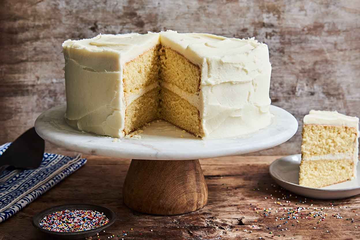Golden Vanilla Cake Recipe