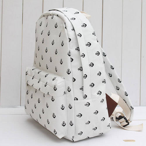 Fashion Navy Anchor Canvas Backpack in ByGoods.com