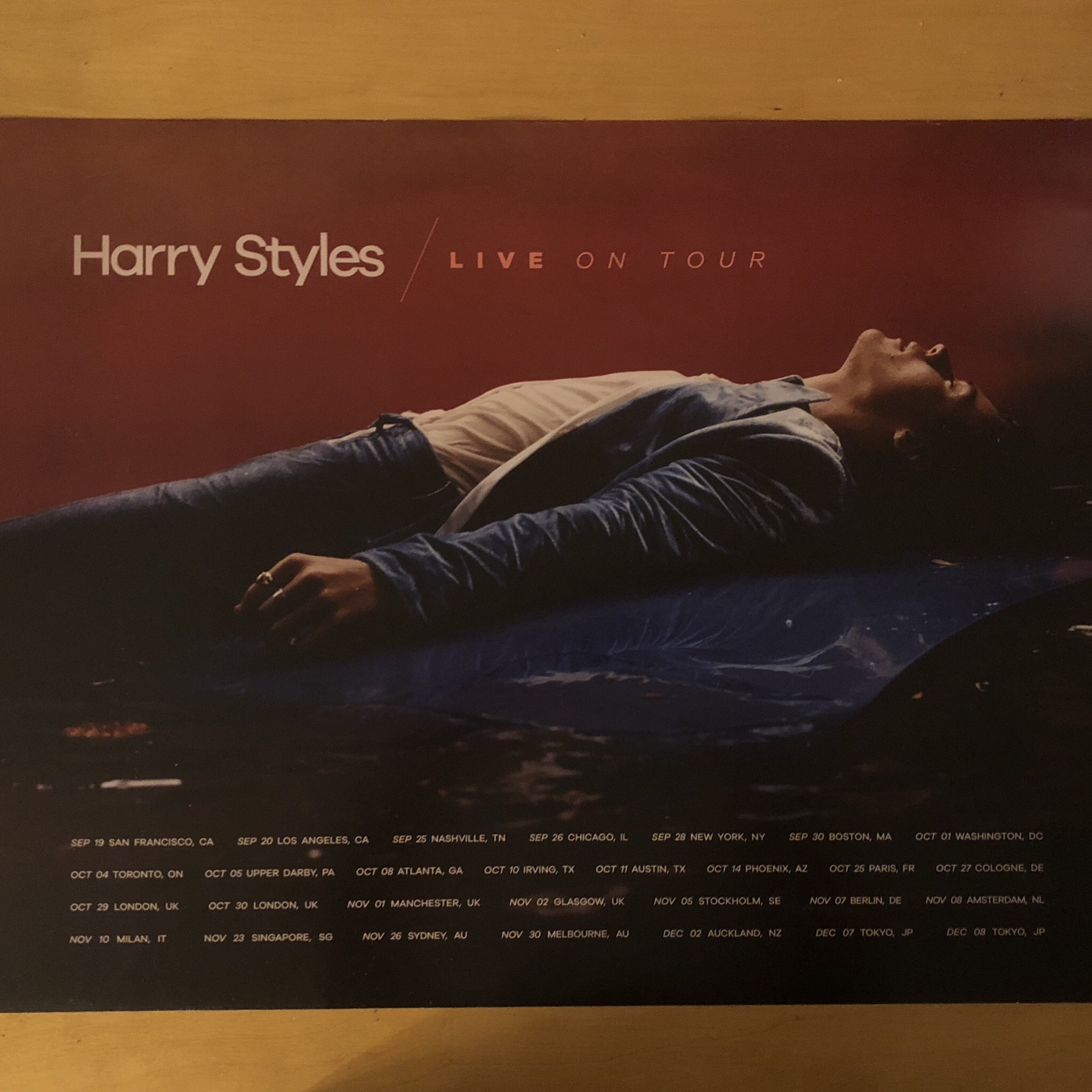 harry styles fall winter 2017 tour poster in perfect