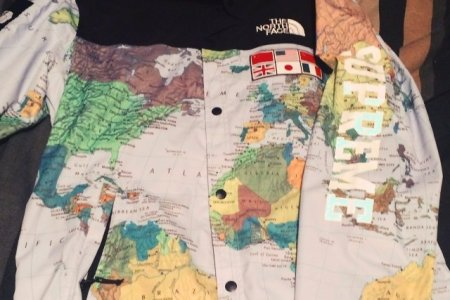 Supreme north face world map path decorations pictures full path supreme supreme x the north face world map jacket men s fashion clothes on photo photo jacket map print blue brown black colorful map print supreme jacket gumiabroncs Gallery