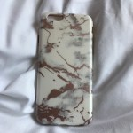 White Marble Effect Iphone 6 6s Phone Case With Rose Depop