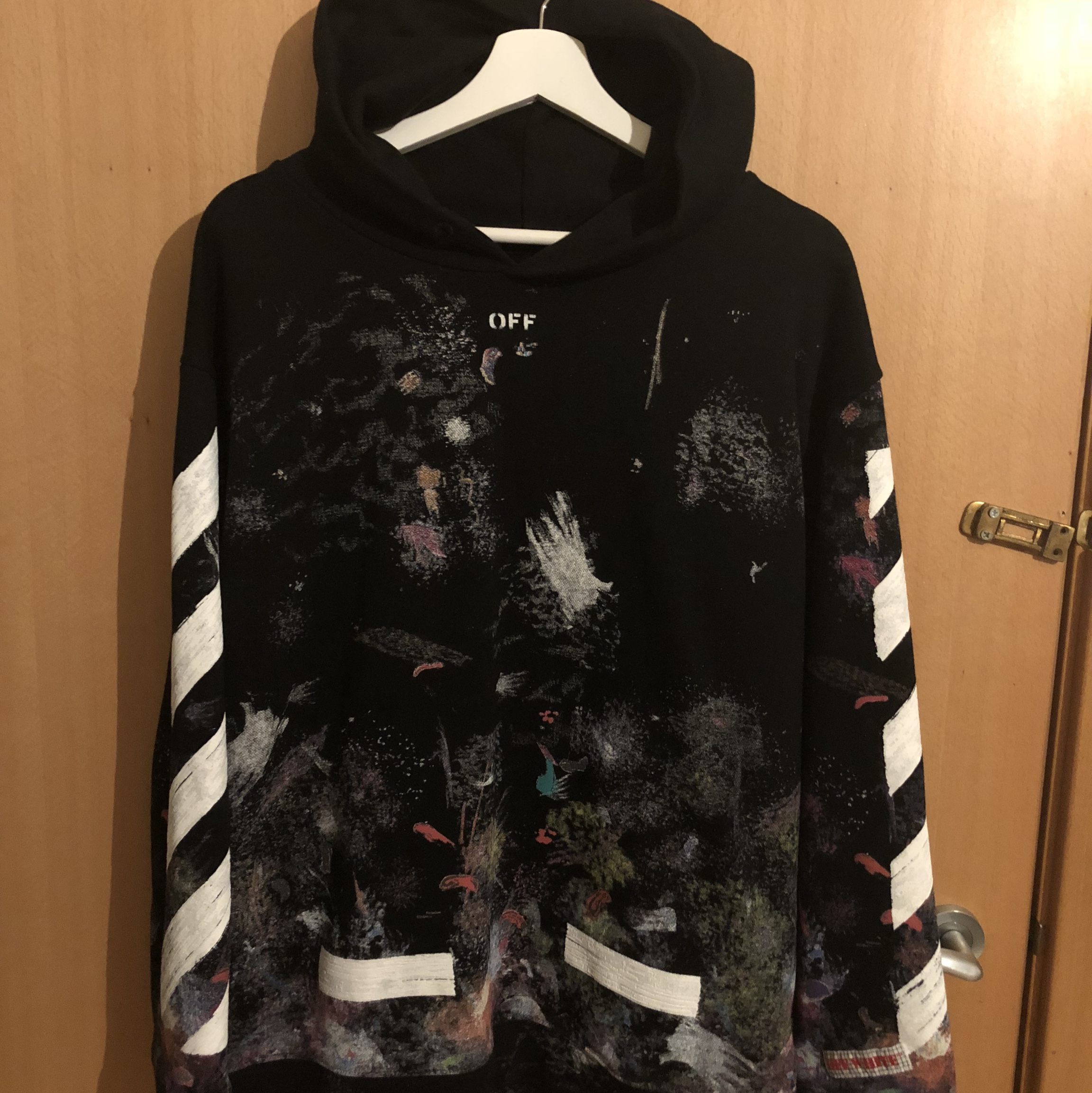 Off White Galaxy Hoodie Purchased From Basement Depop
