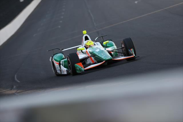 Juncos Racing debutó en IndyCar en mayo pasado, en una nueva edición de la Indy 500; Sebastián Saavedra finalizó 15° (FOTO: Joe Skibinski/INDYCAR)