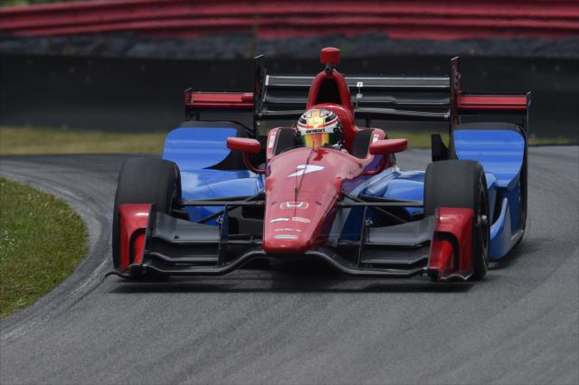 Zach Claman De Melo hizo múltiples tests con Schmidt Peterson Motorsports desde el año pasado, mientras era regular de Indy Lights; el canadiense debutó en IndyCar en Sonoma (FOTO: Chris Owens/INDYCAR)