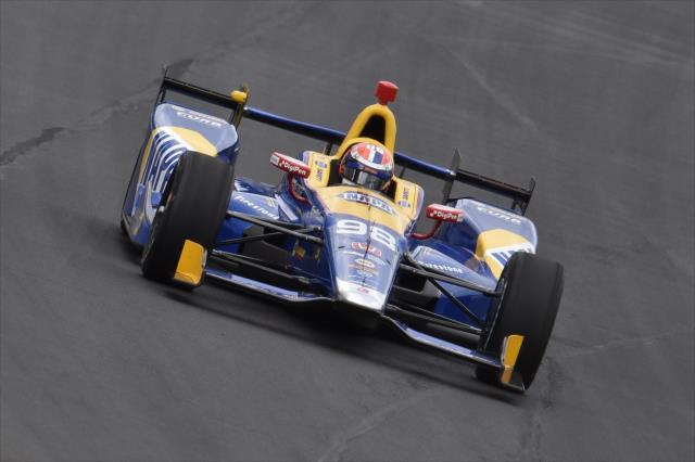 Alexander Rossi ganó la edición 100 de la Indy 500, siendo la 11° ocasión que Honda triunfa en el evento (FOTO: Chris Owens/INDYCAR)