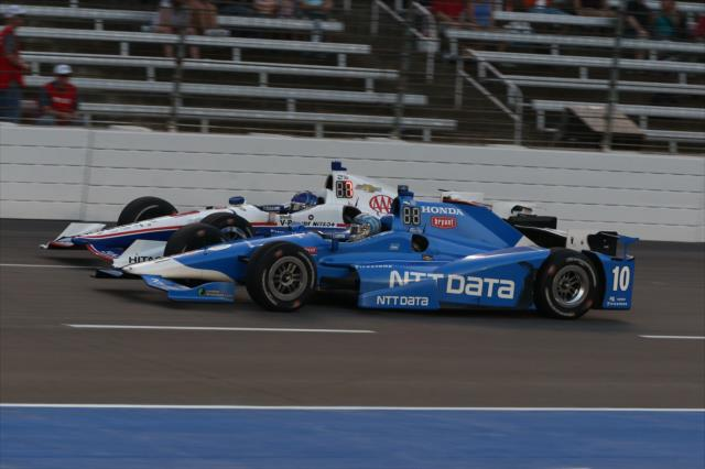 Castroneves y Kanaan son los referentes en cuanto a experiencia en la especialidad (FOTO: Chris Jones/INDYCAR)