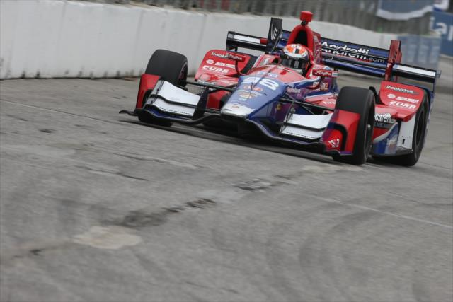El ex Fórmula 1 había sido quinto en Barber y la primera batería en Detroit (FOTO: Joe Skibinski/INDYCAR)